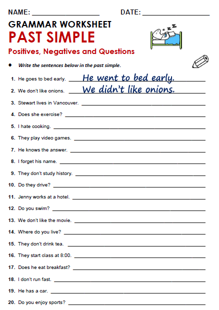 Printables Easy Grammar Worksheets past simple all things grammar worksheet simple