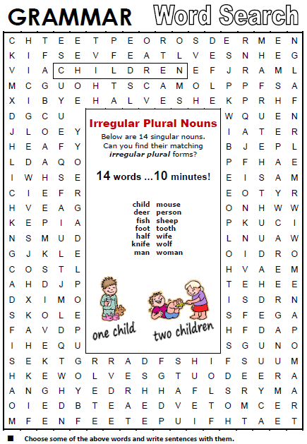 Plural u0026 Singular Nouns - All Things Grammar