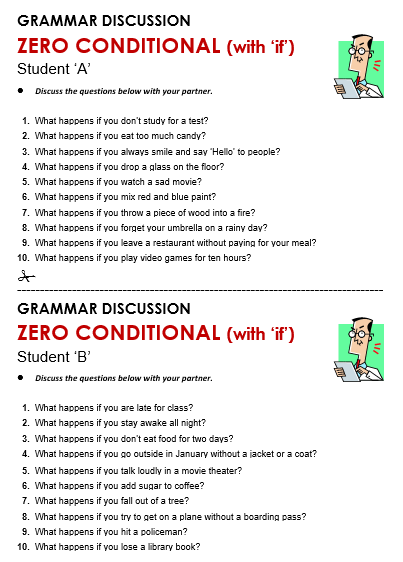 Zero conditional all things grammar for Sentence of floor