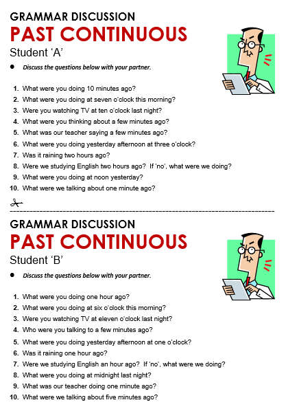 Past Continuous All Things Grammar