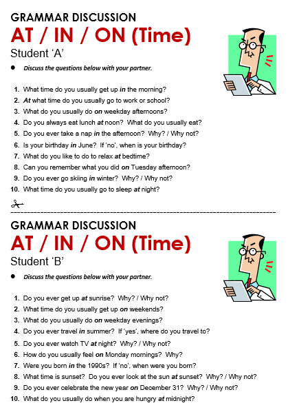 Time At In On All Things Grammar