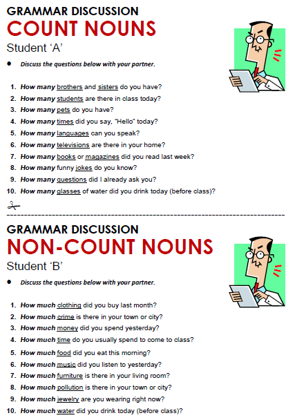 Count & Non-count Nouns - All Things Grammar