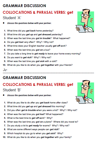 Collocations with 'Get' - All Things Grammar