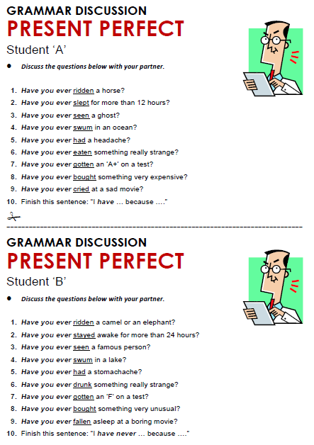 Present Perfect Simple All Things Grammar